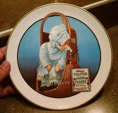 Vintage 1991 Limited Kellogg's Corn Flakes Plate, The Little Girl In The Oriole