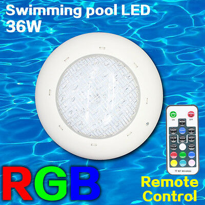 LED swimming pool lights Spa RGB multi-colors + remote control 36W 12V stainless
