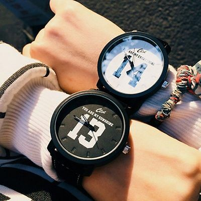 Fashion Womens Mens FOREVER LOVE Watches Unisex Leather Watches Lovers Gift
