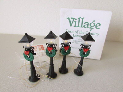 Dept 56 Village Turn of the Century Lampposts Set of 4 55042