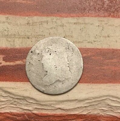 1829-1837 5C Capped Bust Half Dime 90% Silver Vintage US Coin #MP92