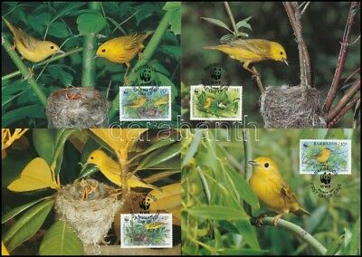 Barbados stamp WWF Birds set on 4 CM Cover 1990 Mi 770-773 WS246635