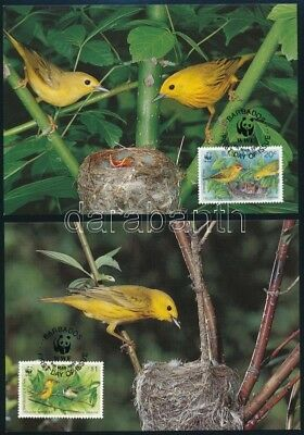 Barbados stamp WWF Birds set on 4 CM Cover 1990 Mi 770-773 WS246636