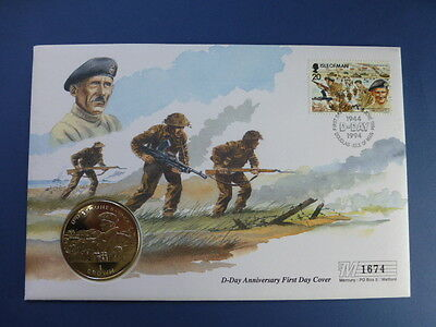 1944 D-DAY ANNIVERSARY FIRST DAY Crown Coin Cover