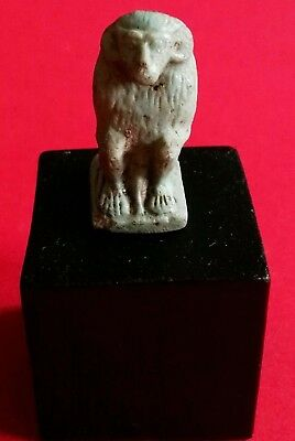 Baboon Faience Amulet