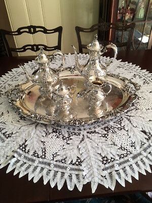 Reed & Barton King Francis Silverplate  5 PieceTea/Coffee Set