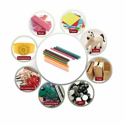 50Pcs 7*100mm EVA Solid Colour Hot Glue Gun Sticks 10Colour Hot Melt Glue Sticks