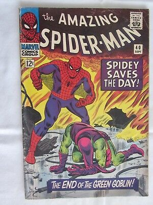Marvel Comics: The Amazing Spider-Man #40 Sept 1966 Origin of Green Goblin