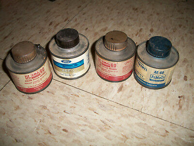1960s Lot 4 Ford FoMoCo Color Patch Enamel Paint Can 3 oz AE-60 5099 1450 DL60