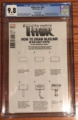 Mighty Thor 700 Variant Error Cover How To Draw CGC 9.8 1245321009 Zdarsky