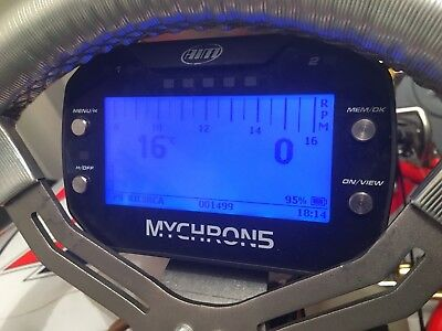Aim Mychron 5 Original Box And Instructions, RPM And Water Temp Cables