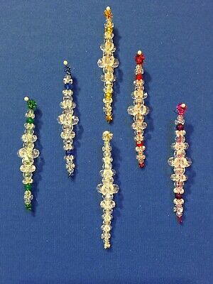 Kit Makes 12 SHIMMERING ICICLE Christmas Tree Holiday Ornaments Choose Color