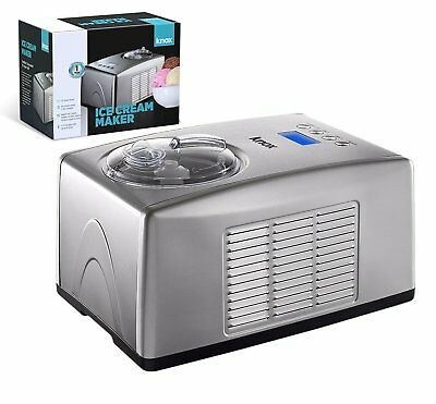 Knox 1.5 Quart Compressor Ice Cream and Gelato Maker With Keep Cool Feature