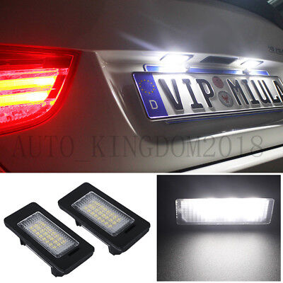 LED License Number Plate Light Lamp For BMW 3 5 Series White E39 E60 E61 E90 E92