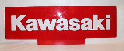 Kawasaki BRIGHT RED DOUBLE SIDED Advertising Sign Motorcycles ATV's Small Engine