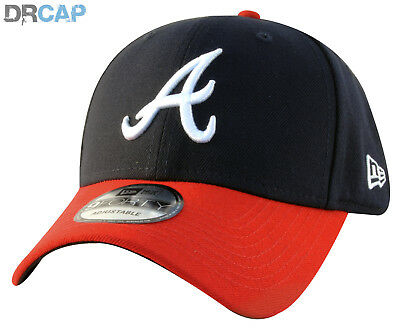 New Era Atlanta Braves The League 9Forty Navy Adjustable Baseball Caps 55 - 61cm