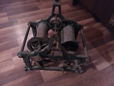 Very Old Tower Clock Mechanism Spears Or Repair For Collectors
