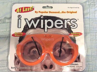 Orange iWipers Windsheild Wiper Flashing Lights Costume Glasses Goggles