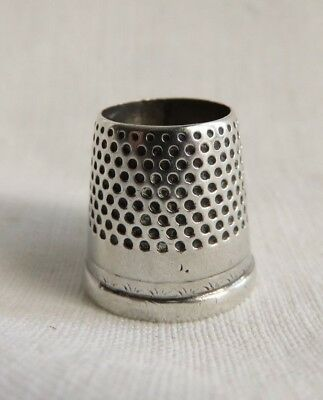 Very Nice Antique Sterling Silver Tailor's Thimble
