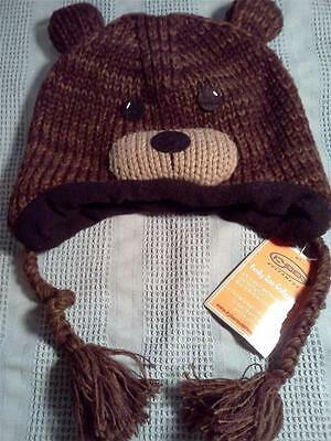 Kyber Outerwear Kids Hat Girl/boy Brown Bear