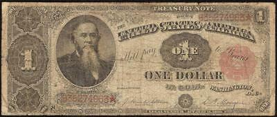 LARGE 1891 $1 DOLLAR BILL STANTON TREASURY COIN NOTE BIG CURRENCY MONEY Fr 351
