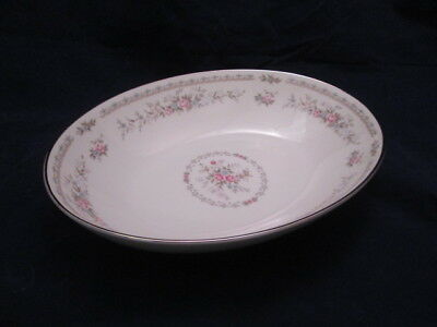 Jaime by Royal Song Oval Vegetable Bowl Beautiful Floral on Ivory China 8002-A