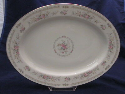 "Jaime by Royal Song 14"" Platter Beautiful Floral on Ivory China 8002-A"
