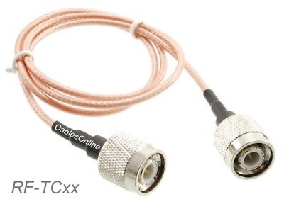 TNC Male to TNC Male 50-Ohm RG316 Coax Low Loss RF Cable