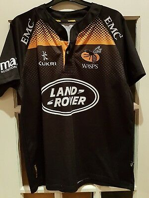 WASPS Kukri  S/S HOME RUGBY JERSEY SIZE Pit To Pit 21
