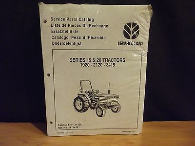 NEW HOLLAND Series 15 & 20 Tractor Parts Catalog, 1920 2120 3415, FNH17412L 1993