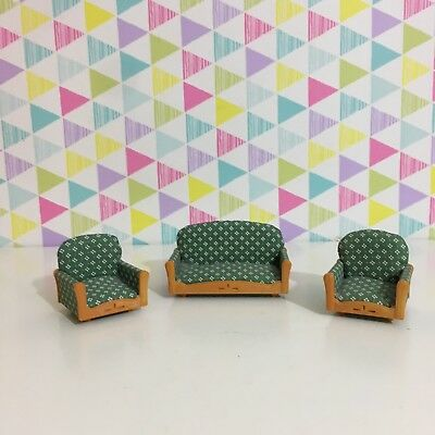 Sylvanian Families Green White Sofa & Chairs Grand Hotel House Furniture Spares