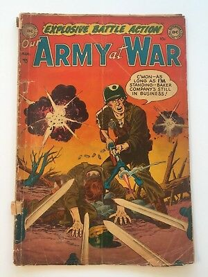 195 OUR ARMY AT WAR COMICS #1 GOLDEN AGE COMIC BOOK! F/G condition