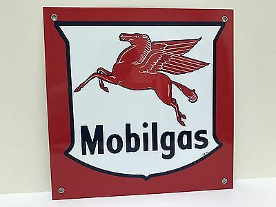 Mobilgas Mobil Gas pegasus oil gasoline vintage advertising sign