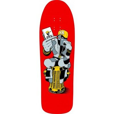 Powell Peralta Ray Barbee Hydrant Reissue Skateboard Deck Red - Collectable