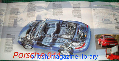 2003 Porshce 911 996 Carrera - Fold-out Technical Cutaway Drawing