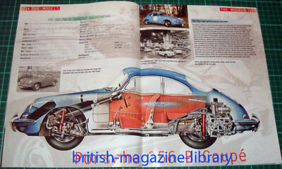 1962 Porsche 356 B Coupe - Technical Cutaway Drawing