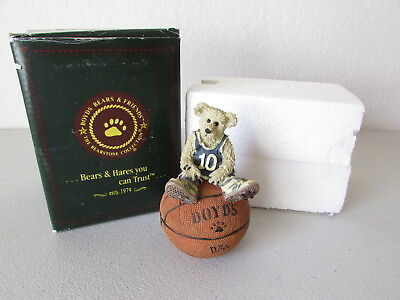 Boyds Bears Bearstone Collection Larry Nuthin But Net 25706 1995