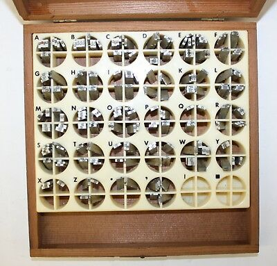 Kingsley Stamping Machine Co. Letters 223 Piece Type Box