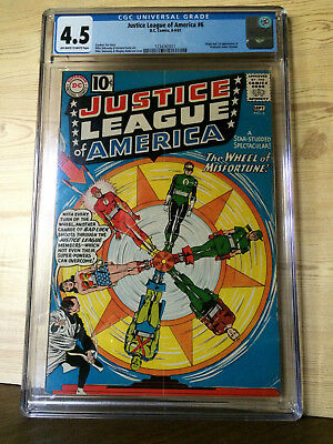 Justice League of America #6 (Aug-Sep 1961, DC) CGC 4.5 1st Prof. Amos Fortune