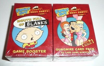 Family Guy Card Game Booster Packs - Stewie's Sexy Party Mouth Blanks Quagmire