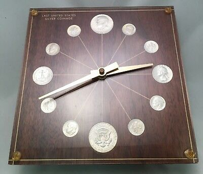 "Marion Kay Numismatic Coin Clock ""Last Silver Coinage"" Keeps Time The Executive"