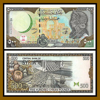 Syria 500 Pounds, 1998 P-110 Unc
