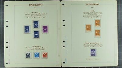 Weeda Sweden 651//1030 VF MNH collection in album, 1967-73 issues CV $628.80