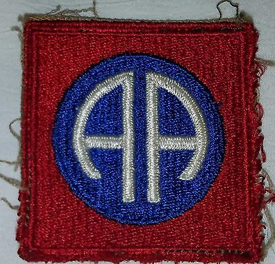 WWII 82nd Airborne Patch Off Uniform A/B