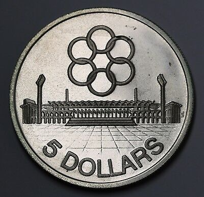 1973 Singapore 5 Dollars KM# 10 Silver $5  Proof 5000 Minted