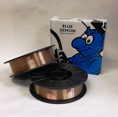 ER70S-6 X  .023  X 11 lb Spool MIG Blue Demon steel welding wire 2 SPOOLS