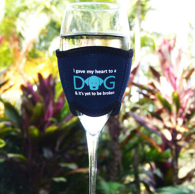 Neoprene Wine Cooler for Dog Lovers with I Gave my Heart to a Dog - Design