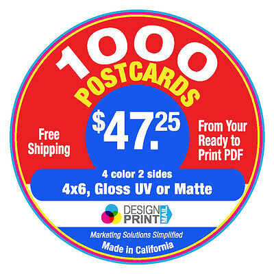 Health Care Postcards 1000 4x6 Full Color Glossy UV or Matte Free Shipping