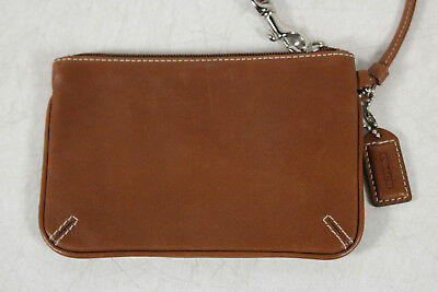 Coach Brown Mini Wristlet Purse
