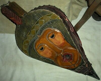 VINTAGE c. 1930S MID CENTURY FOLK ART CARVED BELLOWS NATIVE AMERICAN INDIAN vafo